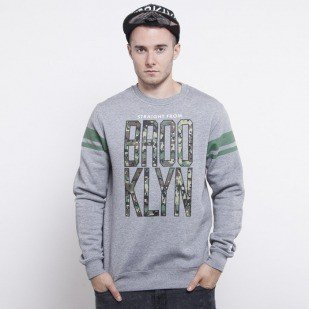 Cayler & Sons bluza Brooklyn crewneck grey heather / digi camo / green