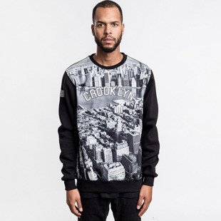 Cayler & Sons bluza sweatshirt Crooklyn Skyline Crewneck black / grey / white WL-CAY-AW16-AP-12
