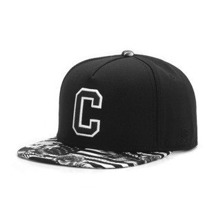 Cayler & Sons snapback czapka Cee Flagged Cap black / white GLD-CAY-AW16-08