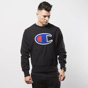 Champion bluza sweatshirt Big Logo Patch black 209139-2175