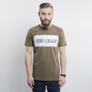 Criminal Damage koszulka t-shirt Since olive
