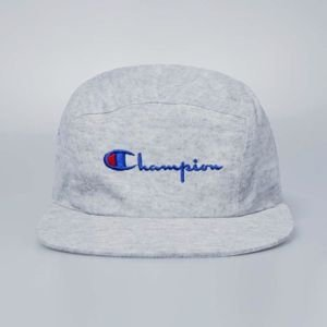 Czapka Champion 5panel Logo Reverse Weave Cap light heather grey