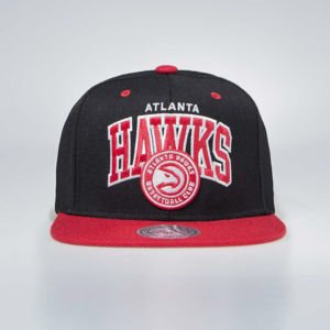 Czapka Mitchell & Ness Atlanta Hawks Snapback Cap black / red Team Arch