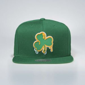 Czapka Mitchell & Ness Boston Celtics Snapback Cap green Dripped
