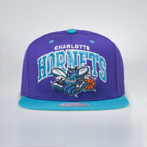 Czapka Mitchell & Ness Charlotte Hornets Snapback Cap purple / teal Team Arch