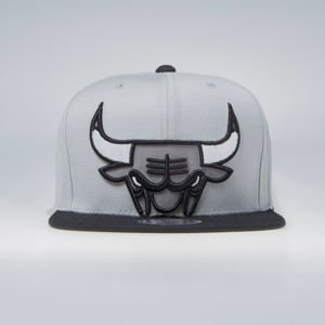 Czapka Mitchell & Ness Chicago Bulls Snapback Cap grey NBA Cropped XL Snapback