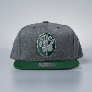 Czapka Mitchell & Ness snapback Boston Celtics grey / green Fleece Clear Logo