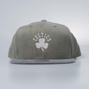 Czapka Mitchell & Ness snapback Boston Celtics olive Washed Twill 2Tone