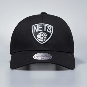 Czapka Mitchell & Ness snapback Brooklyn Nets black Team Logo Low Pro