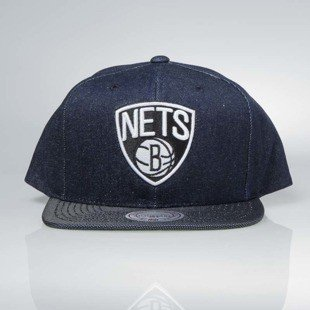 Czapka Mitchell & Ness snapback Brooklyn Nets denim Raw Denim 3T PU