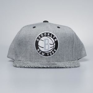 Czapka Mitchell & Ness snapback Brooklyn Nets grey / black Elephant Crack
