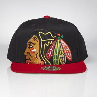 Czapka Mitchell & Ness snapback Chicago Blackhawks black Cropped XL Logo