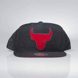 Czapka Mitchell & Ness snapback Chicago Bulls charcoal Cut Heather