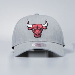 Czapka Mitchell & Ness snapback Chicago Bulls grey heather Team Logo Low Pro