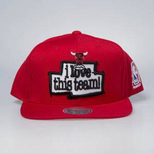 Czapka Mitchell & Ness snapback Chicago Bulls red I Love This Team
