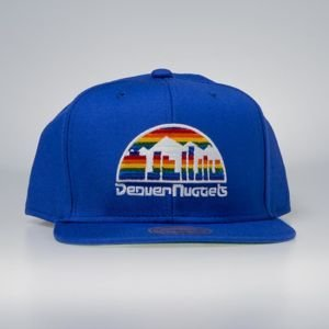 Czapka Mitchell & Ness snapback Denver Nuggets blue Wool Solid / Solid 2
