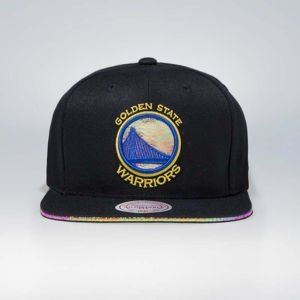 Czapka Mitchell & Ness snapback Golden State Warriors black Dark Hologram II