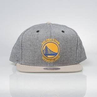 Czapka Mitchell & Ness snapback Golden State Warriors denim Denim Khaki VS59Z