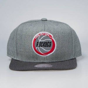 Czapka Mitchell & Ness snapback Houston Rockets grey / charcoal Heather Reflective