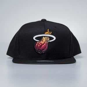 Czapka Mitchell & Ness snapback Miami Heat black Easy Three Digital XL