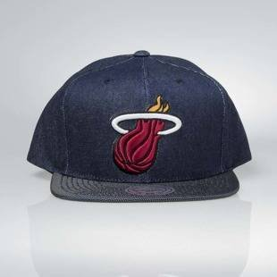 Czapka Mitchell & Ness snapback Miami Heat denim Raw Denim 3T PU