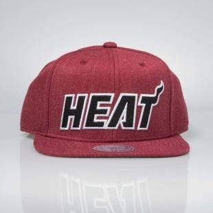 Czapka Mitchell & Ness snapback Miami Heat red INTL034 Team Heather