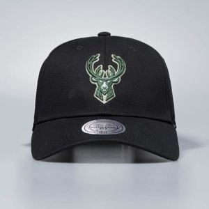 Czapka Mitchell & Ness snapback Milwaukee Bucks black Team Logo Low Pro