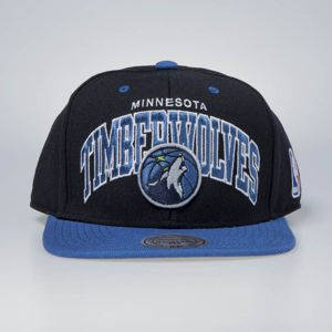 Czapka Mitchell & Ness snapback Minnesota Timberwolves black / blue Team Arch