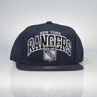 Czapka Mitchell & Ness snapback New York Rangers navy EU965 Black and White Arch