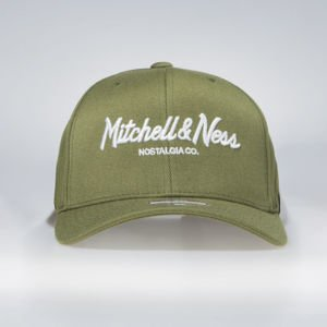 Czapka Mitchell & Ness snapback Own Brand olive Pinscript High Crown110