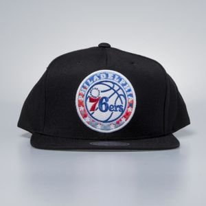 Czapka Mitchell & Ness snapback Philadelphia 76ers black Easy Three Digital XL