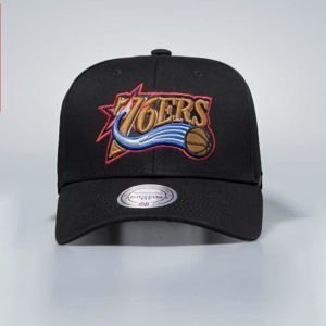 Czapka Mitchell & Ness snapback Philadelphia 76ers black Team Logo Low Pro