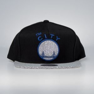 Czapka Mitchell & Ness snapback San Fransisco Warriors black Cracked Iridescent