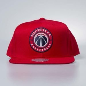 Czapka Mitchell & Ness snapback Washington Wizards red Twill Circle Patch