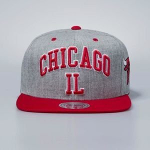 Czapka Mitchell & Ness snapbeck Chicago Bulls grey heather Side Panel Cropped