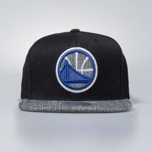 Czapka Mitchell & Ness snapbeck Golden State Warriors black Woven TC