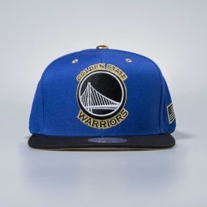 Czapka Mitchell & Ness snapbeck Golden State Warriors royal Gold Tip