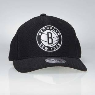 Czapka Mitchell & Ness strapback Brooklyn Nets black Hexagon Jersey Mesh Hook and Loop
