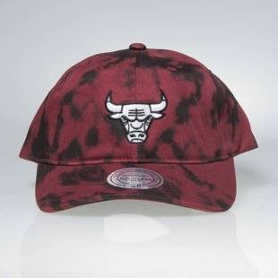 Czapka Mitchell & Ness strapback Chicago Bulls burgundy Multi Colour Acid Wash