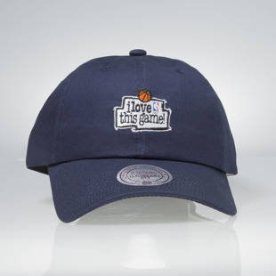 Czapka Mitchell & Ness strapback Game navy HUD012 I Love This Game Low Pro
