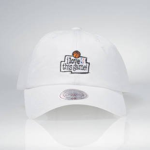 Czapka Mitchell & Ness strapback Game white HUD012 I Love This Game Low Pro