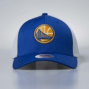 Czapka Mitchell & Ness stretch fit Golden State Warriors royal Mesh Flex Trucker