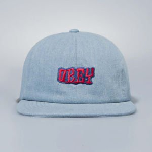 Czapka Obey Snapback Campbell 6 Panel Hat light denim