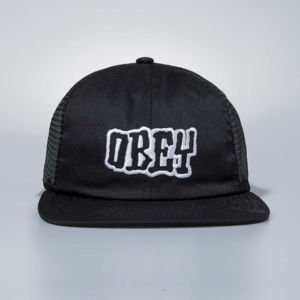 Czapka Obey Snapback Runnin Trucker Hat black