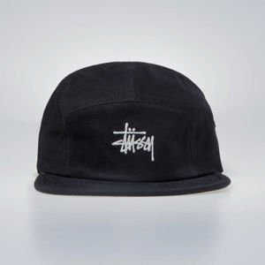 Czapka Stussy 5panel Stock Herringbone Camp Cap black