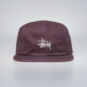 Czapka Stussy 5panel Stock Herringbone Camp Cap burgundy