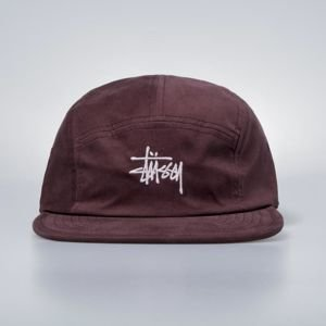 Czapka Stussy 5panel Stock Logo Camp Cap burgundy