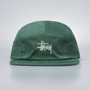 Czapka Stussy 5panel Stock Logo Camp Cap green