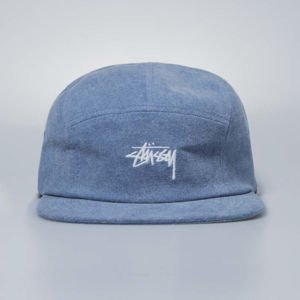Czapka Stussy 5panel Washed Oxford Canvas Camp Cap indigo