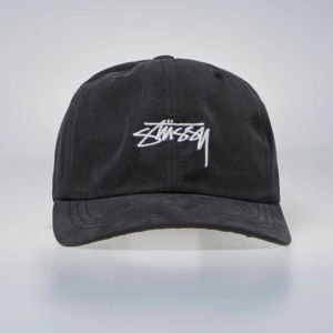 Czapka Stussy Strapback Peached Smooth Stock Low Pro Cap black